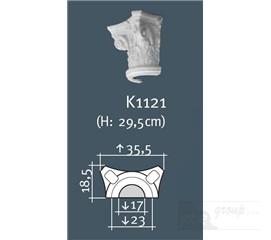 Hlavice půlsloupu K1121